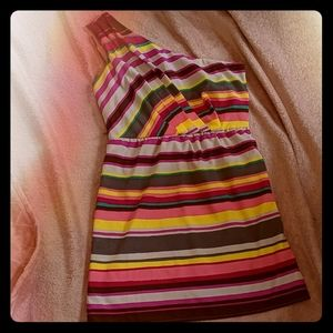 NWT Lily Rose Striped One Shoulder Dress